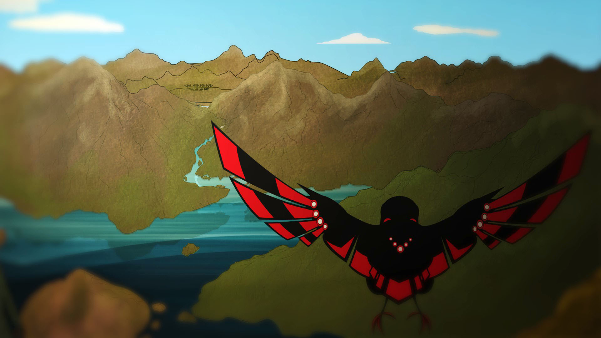 Raven Goes Fishing V3_Moment