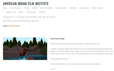 Raven Goes Fishing up for Best Animation at American Indian Film Festival
