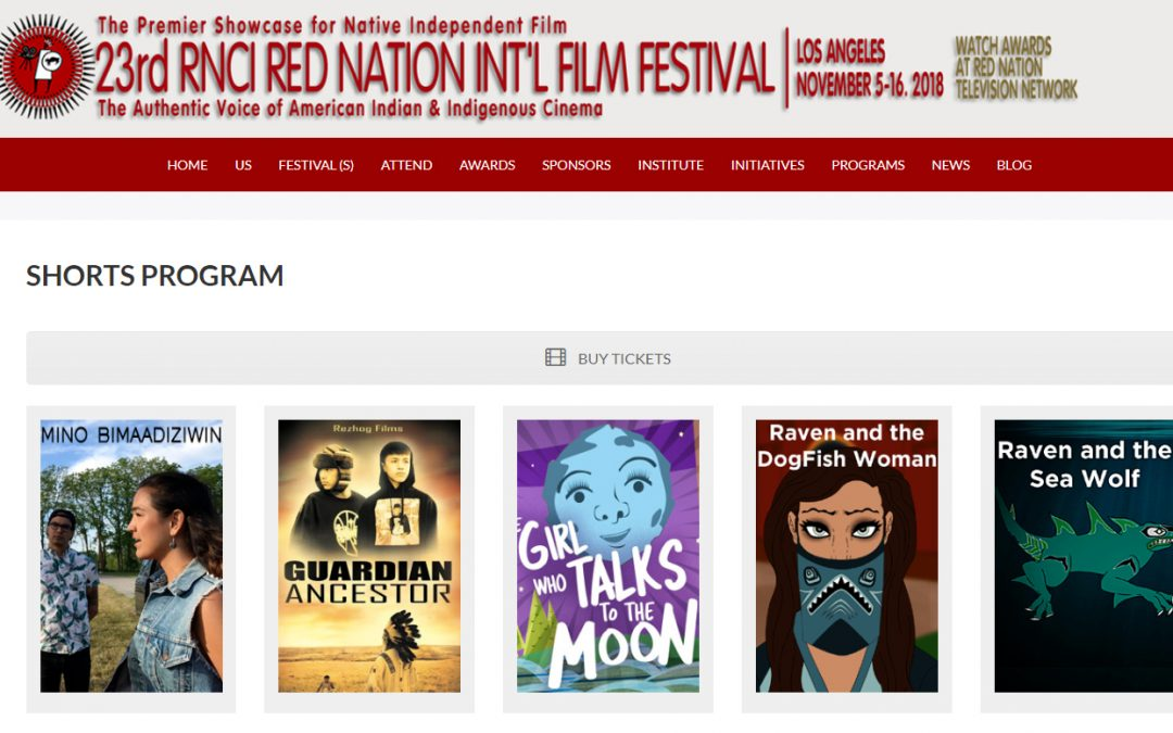 Raven Adventures Films Being Screened at Red Nation Film Festival